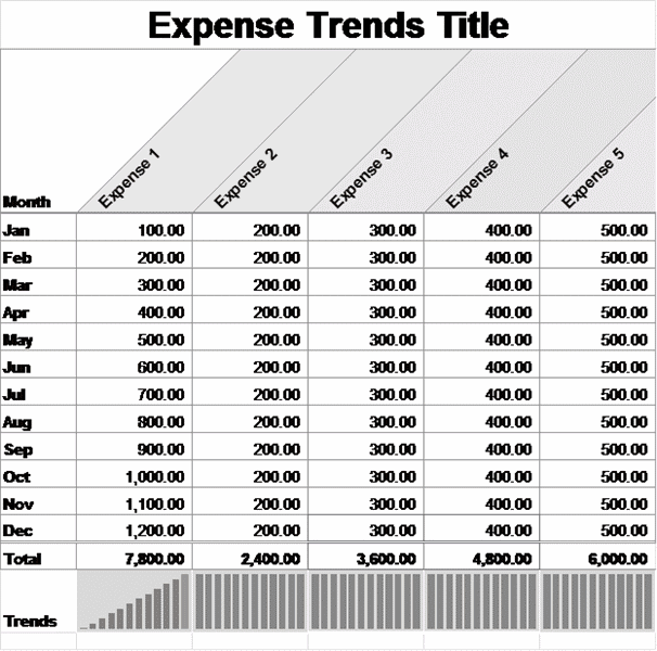 01 Small Business Monthly Expense Report Template