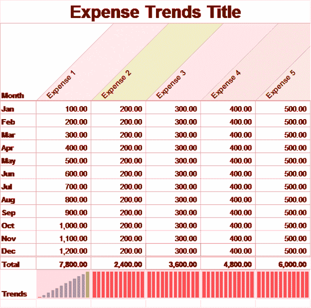02 Small Business Monthly Expense Report Template