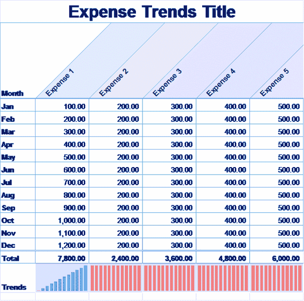 04 Small Business Monthly Expense Report Template