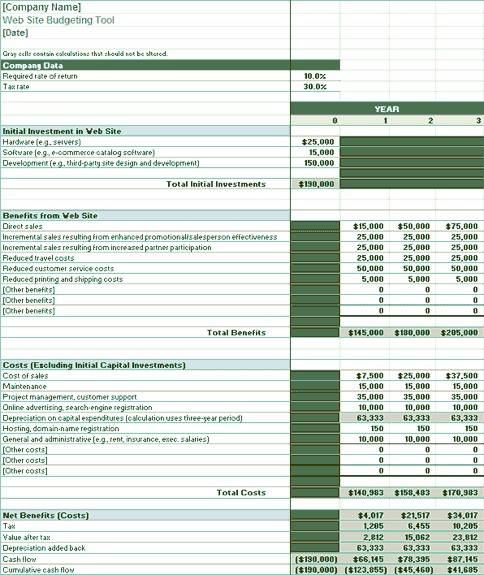 Download Web Related Excel Templates For Microsoft Excel