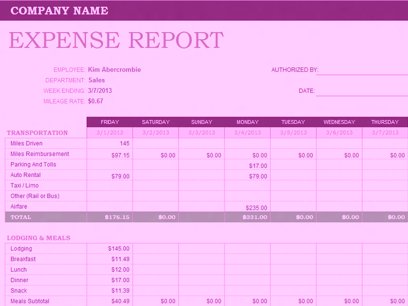 Download 06 Weekly Expense Report Template
